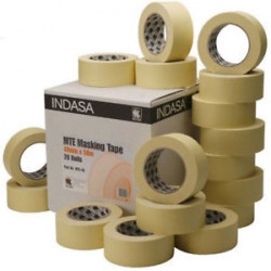 Indasa 18mm x 50m Masking Tape (Box of 48 Rolls)