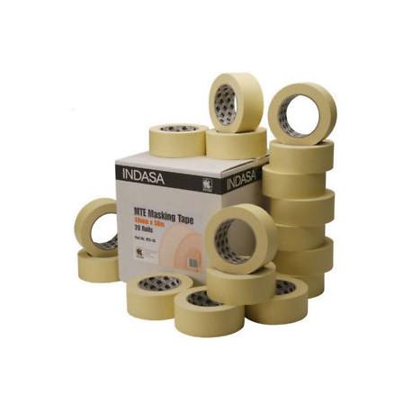 Indasa 18mm x 50m Masking Tape (Box of 48 Rolls)