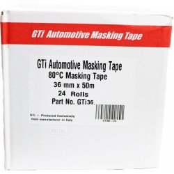 GTi 36mm x 50m High Quality Masking Tape, Box of 24 rolls - by Grove