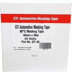GTi 48mm x 50m High Quality Masking Tape, Box of 20 rolls - by Grove
