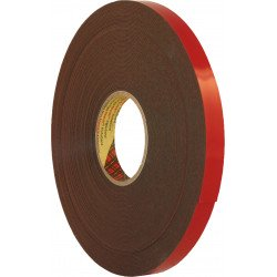 3M 12mm x 20m Black Double Sided Acrylic Plus Tape PT1100 - by Grove