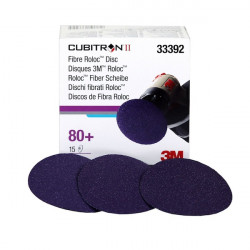 3M P80 75mm Cubitron II Roloc Fibre Disc 786C,  Qty of 15 - by Grove