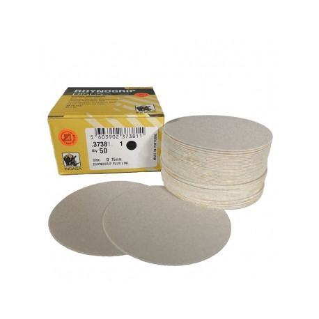 Indasa P180 75mm Plusline Discs, No Hole,  Pack of 50 - by Grove