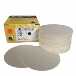 Indasa P240 75mm Plusline Discs, No Hole,  Pack of 50 - by Grove
