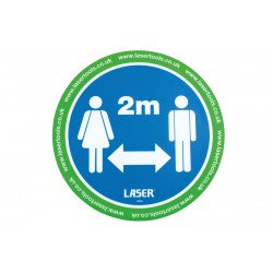 Floor Sticker for Social Distancing 2m, Pack of 6 stickers