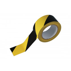Black & Yellow 50mm x 33M Adhesive Barrier Tape.