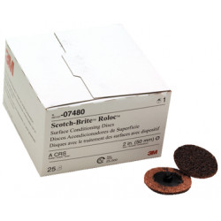 3M 50mm Brown Roloc Coarse Conditioning Disc, Qty of 25