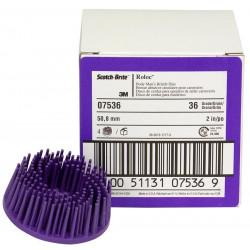 3M 50m m Purple Coarse Roloc Bristle Disc, Qty of 4