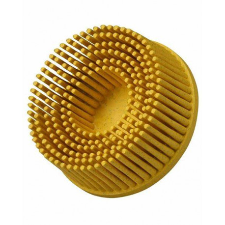 3M 75mm Yellow Medium Roloc Bristle Disc, Single