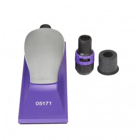 3M 70 x 198mm Hookit Purple+ Handblock, Multi Hole