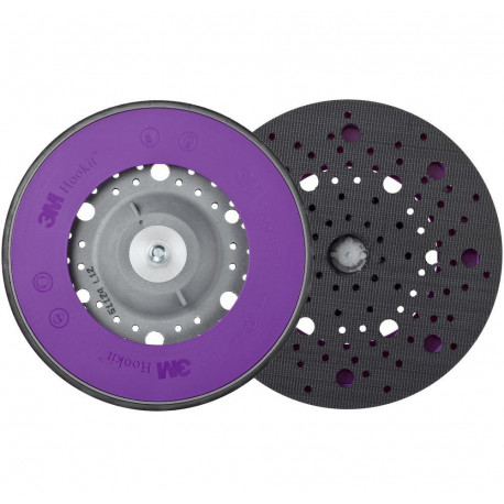3M 150 mm, 5/16 in Soft Hookit Back-up Pad Multihole