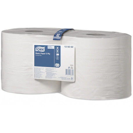 Tork Basic Paper 2 Ply, 23cm x 340m Roll, Pack of 2