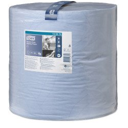 Tork Heavy Duty Wiping Paper Blue Jumbo Roll, 36.9cm x 340m