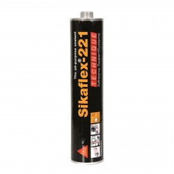 Sikaflex 221 Brown Adhesive Sealant, 300ml cartridge