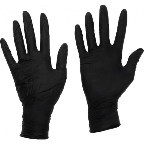Heavy Duty X Large Latex Gloves Black, Box of 100
