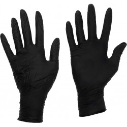 Heavy Duty Large Latex Gloves Black, Box of 100
