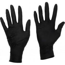 Heavy Duty Large Latex Gloves Black, Box of 100