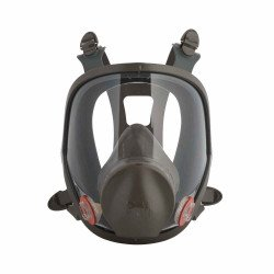 3M Small Reusable Full Face Mask Respirator, Dark Grey.