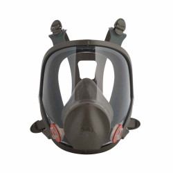 3M Medium Reusable Full Face Mask Respirator, Dark Grey