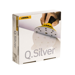 Mirka P100 Q-Silver Grip Discs 15H, 150mm, Pack of 100.