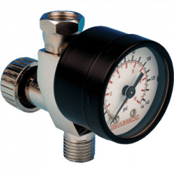 Devilbiss In Line Air Adjusting Valve With Gauge