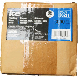Norton P3000 Ice Finishing Foam Discs, 80mm, Box of 6.