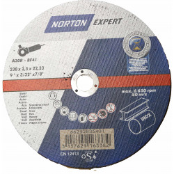 Norton Cutting Discs 230 x 2.5mm, Box of 25.