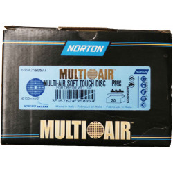 Norton P800 Multi Air Soft Touch Disc 181 H, 150mm, Box of 20.