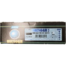 Norton P120 Multi Air Blue Fire Strips 70 x 198mm, Pack of 50.