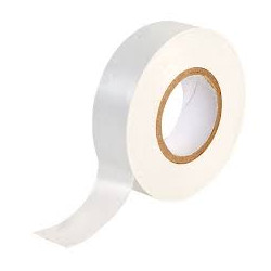 Vanline 19mm x 20m PVC White Insulation Tape, Pack of 10.