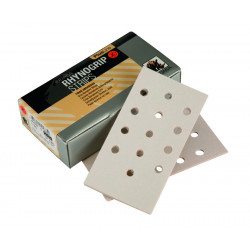 Indasa P120 Plusline Strips, 81 x 153mm, 13 Hole, Pack of 50.