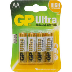 GP Batteries 'Ultra' Alkaline AA Batteries, Pack of 4