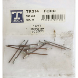 Trade VW/Audi Trim Clip, Universal, Pack of 10.