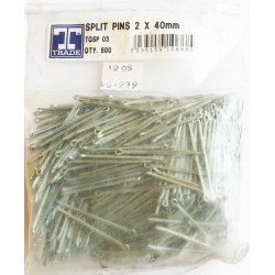 Trade 2 x 40mm Split Pins, Pack of 500.