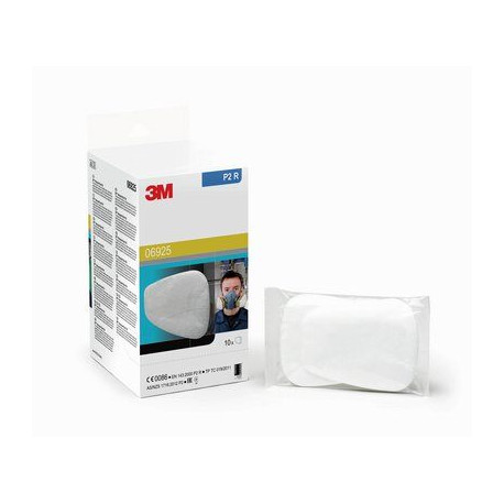 3M Bodyshop Particulate Pre Filters, P2, Pack of 10 pairs