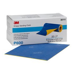 3M P600 139 x 114mm Grippy Sanding Cloth Roll, 20 pieces