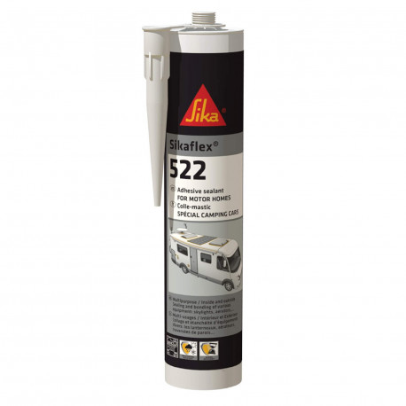 Sikaflex 522 Caravan & Motorhome Adhesive Sealer White, 300ml