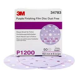 3M P1200 150mm Purple Hookit Film Disc, 260L, 17H, Pack of 50