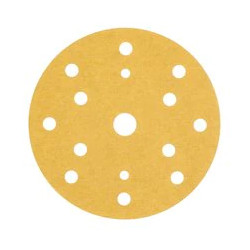 3M P220 150mm Gold Hookit Disc, 15H, Pack of 100