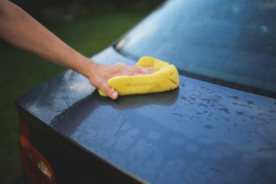 Wash car with sponge